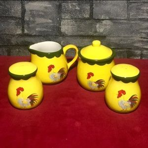 Other - Vintage Rooster Ceramic 5 piece Set